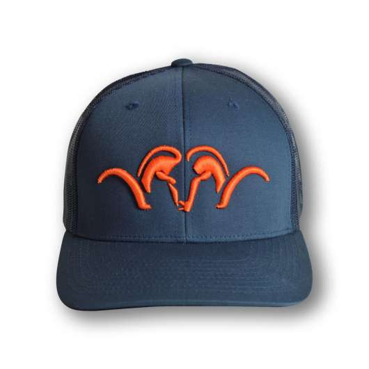 Blaser Snapback Keps  Mesh, Navy/Orange