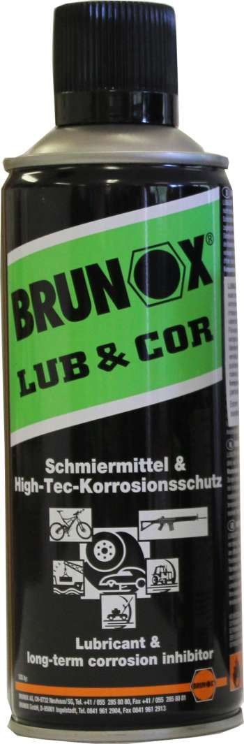 Brunox Vapenolja spray 400 ml - LUB & COR