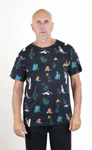 SQRTN Bird Pocket T-shirt Black